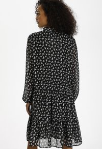 Kaffe - KACAIPO DRESS - Day dress - black / chalk lurex flower - 2