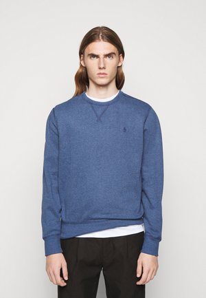 FLEECE CREWNECK SWEATSHIRT - Sweatshirt - derby blue heather