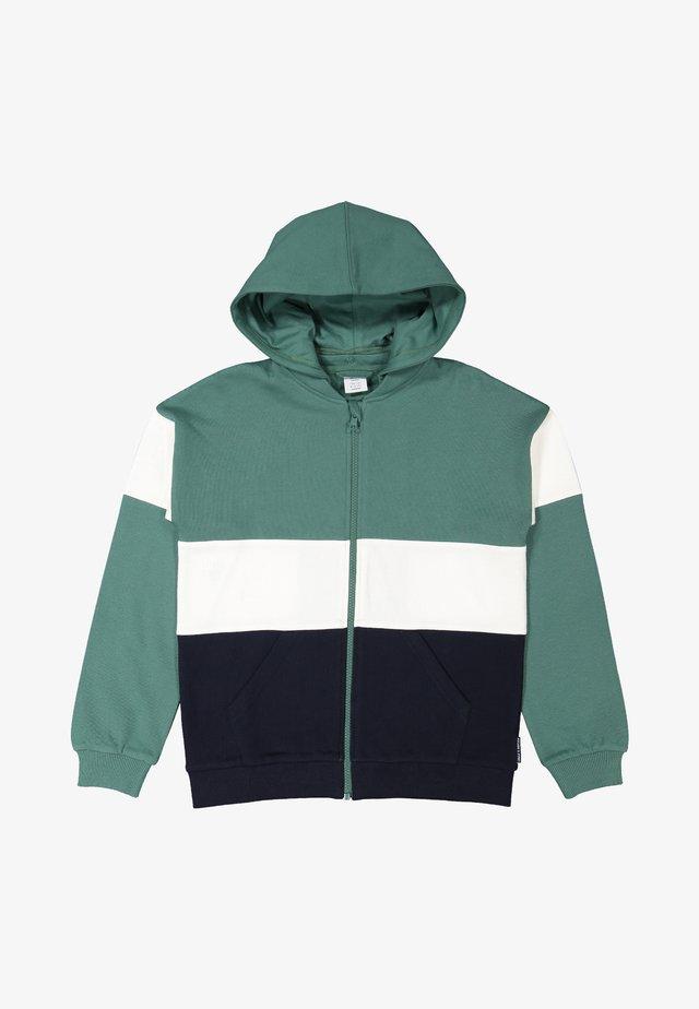 Zip-up hoodie - blue spruce