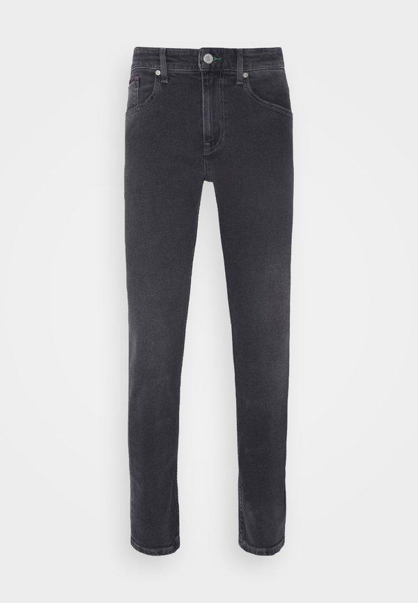 Tommy Jeans AUSTIN TAPERED - Jeansy Slim Fit - denim black comfort/czarny denim Odzież Męska OUGM