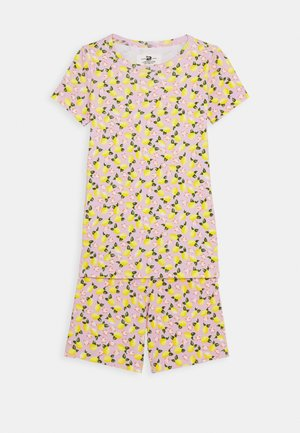 SLEEP LEMONS SET - Pyžamo - pink/yellow