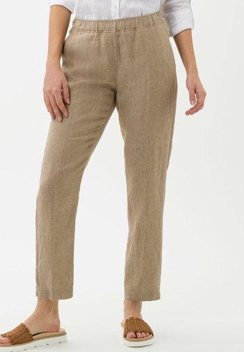 STYLE MARON - Pantalon classique - toffee