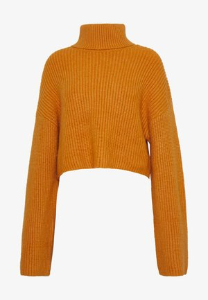 BERA - Stickad tröja - yellow dark