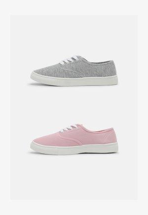 2 PACK - Sneakers laag - grey/light pink
