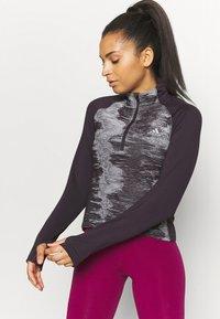 adidas Performance - ZIP - Sports shirt - purple - 0