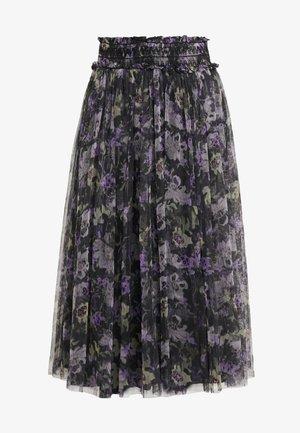 LILACS SMOCKED BALLERINA SKIRT - A-line skirt - graphite