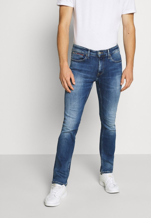 SCANTON - Slim fit jeans - queens mid blue