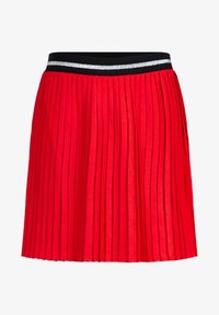 WE Fashion - MET GLITTERDETAILS - A-line skirt - bright red - 2