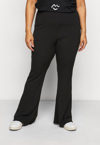 New Look Curves - FLARE LEGGING - Trousers - black - 0