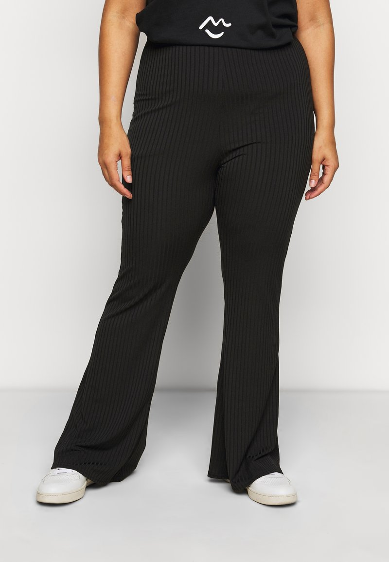 New Look Curves - FLARE LEGGING - Trousers - black