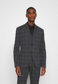 Isaac Dewhirst - BOLD CHECK 3PCS SUIT - Completo - dark blue - 2