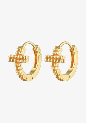 CREOLEN KREUZ GLAUBE RELIGION - Earrings - gold