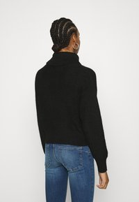 Zign - Roll neck- wool blend - Jumper - black - 2