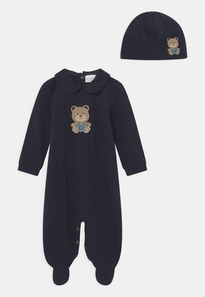 BABY GIFT-BOX ORSETTO SALOPETTE SET - Beanie - blu navy