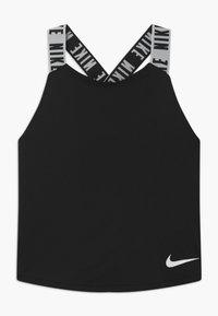 Nike Performance - DRY TANK ELASTIKA - Funkční triko - black/white - 0