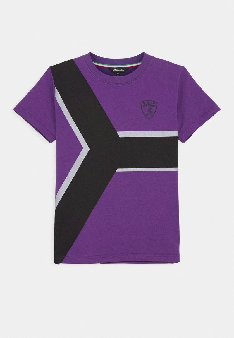 Automobili Lamborghini Kidswear - CONTRAST Y - Print T-shirt - purple melange