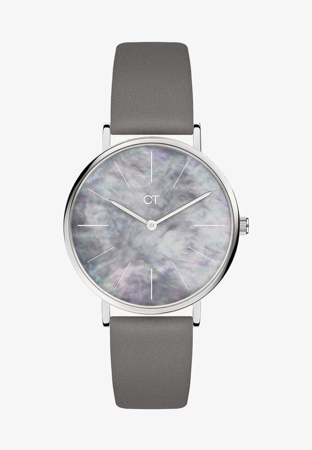 Watch - silber/perlmutt/braun