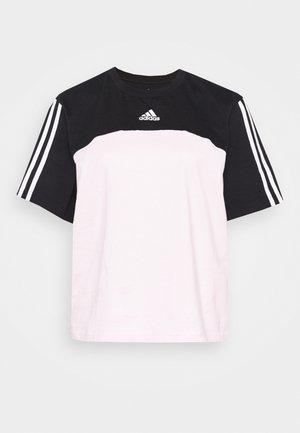 Camiseta estampada - black/clear pink