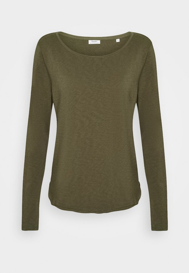 Long sleeved top - utility olive