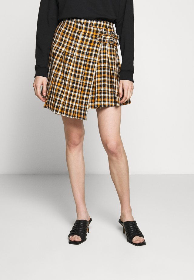 KAMASO SKIRT - A-line skirt - caramel/black