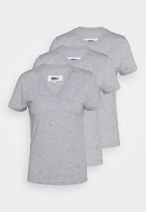 3 PACK - Jednoduché triko - grey