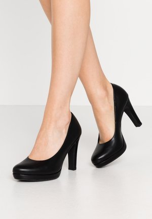 Højhælede pumps - black matt