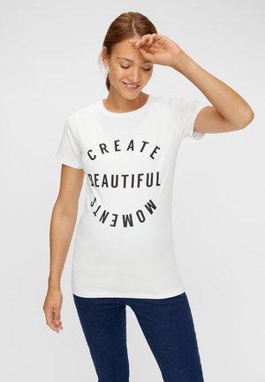 STATEMENT - Print T-shirt - snow white