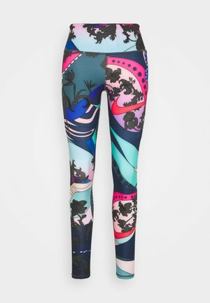 EPIC LUX - Legginsy - hyper pink/black/white