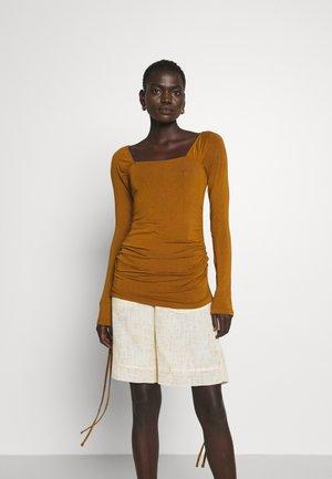 MIRA TOP - Long sleeved top - brown