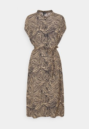 VMGEA CAP CALF DRESS  - Vestido camisero - brown