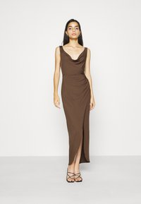 Nly by Nelly - SASSY COWL NECK DRESS - Maxi dress - nogat - 0