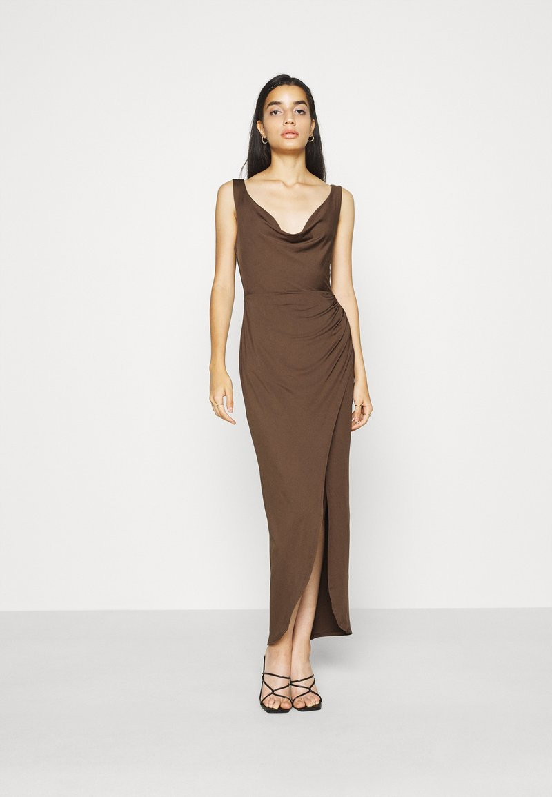 Nly by Nelly - SASSY COWL NECK DRESS - Maxi dress - nogat