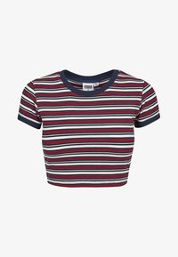Urban Classics - Print T-shirt - white/navy/fire red - 1