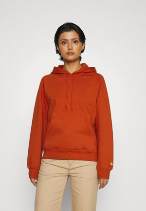 HOODED CHASE  - Hoodie - copperton/gold