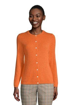 Cardigan - dusty orange heather