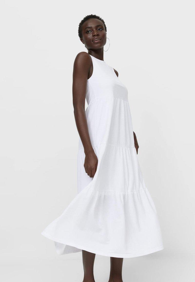 Stradivarius - Sukienka letnia - white