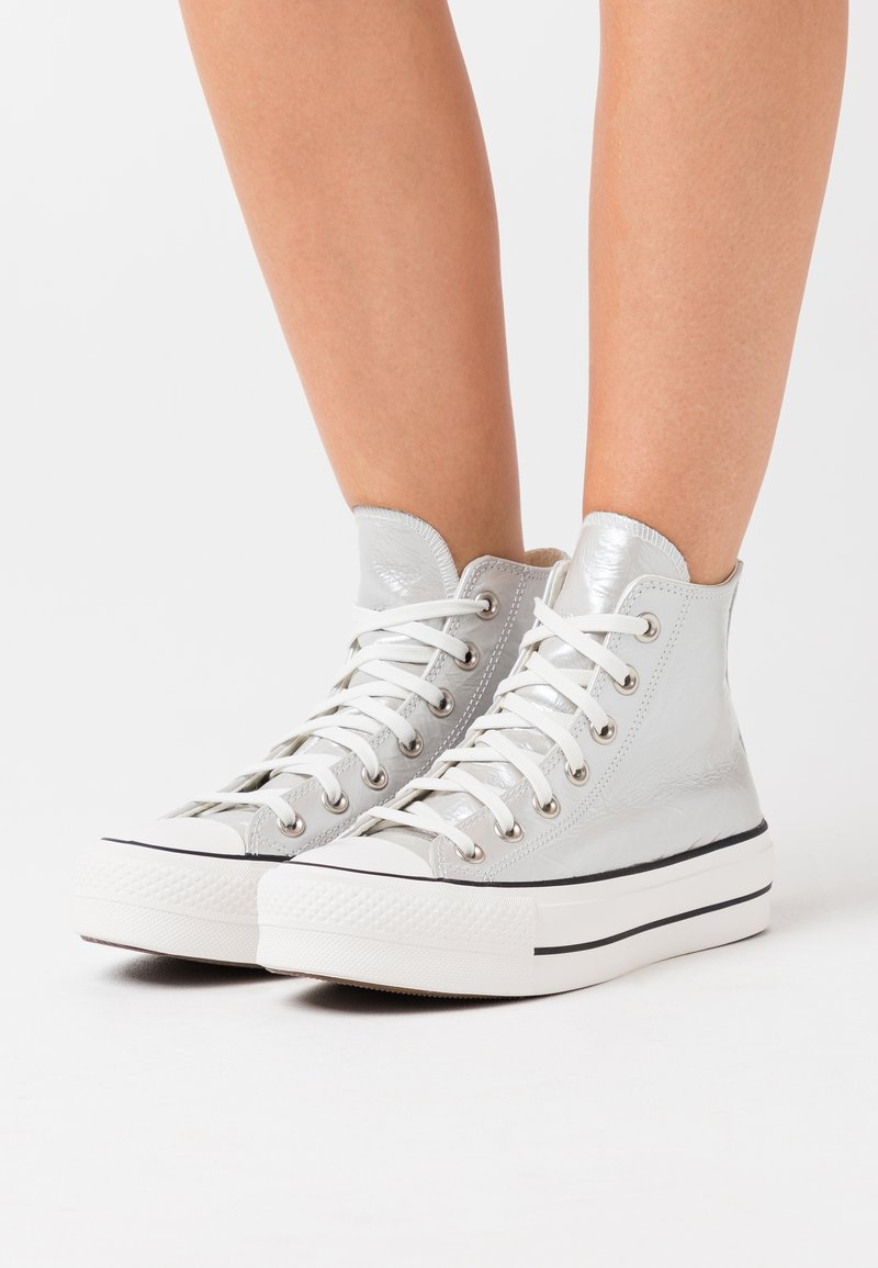 Converse - CHUCK TAYLOR ALL STAR LIFT - Høye joggesko - silver/egret/black