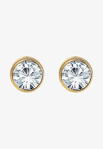 GLASS CRYSTAL - Earrings - gold-colored