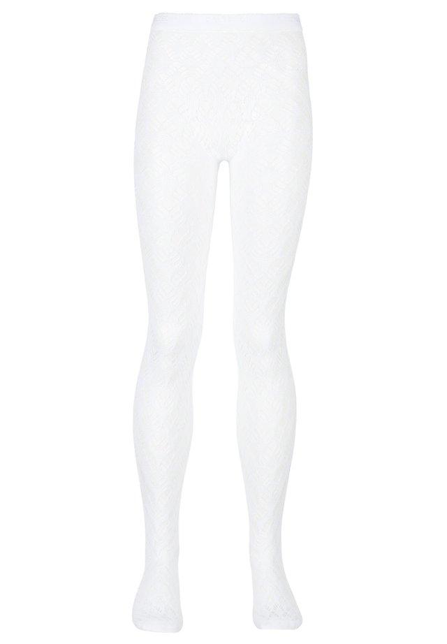 Tights - weiß - 4640 - rete ventagli bianco