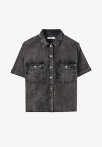 PULL&BEAR - Button-down blouse - dark grey - 6