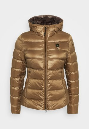 GIUBBINI CORTI IMBOTTITO PIUMA - Down jacket - brown