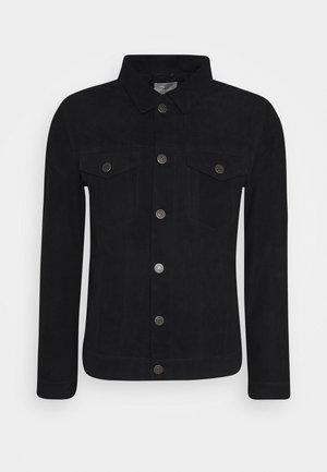 SLHJEPPE - Leather jacket - black