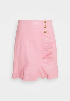 CHIACCHIERONE GONNA SIMILPELLE - Mini skirt - pink