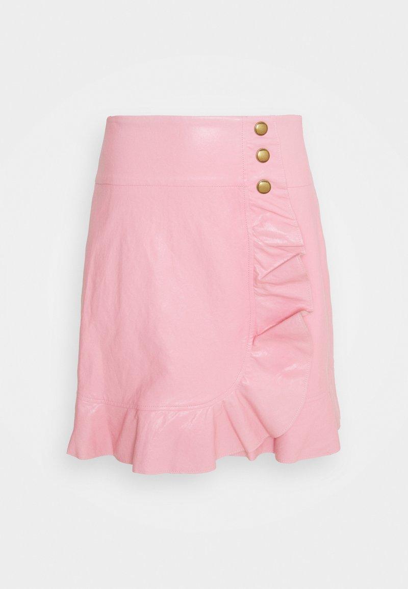 Pinko - CHIACCHIERONE GONNA SIMILPELLE - Mini skirt - pink