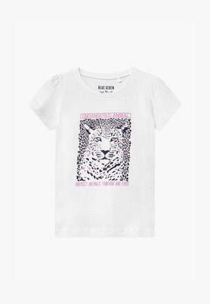 SMALL GIRLS LEOPARD - Printtipaita - white