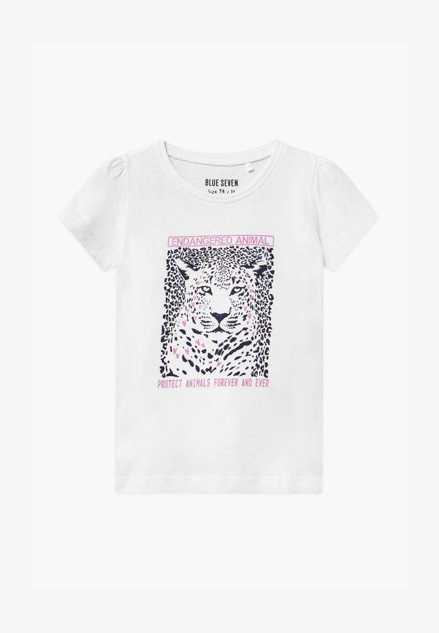 SMALL GIRLS LEOPARD - T-shirt print - white