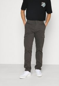 Jack & Jones - JJIROY JJJOE - Pantaloni cargo - dark grey - 0