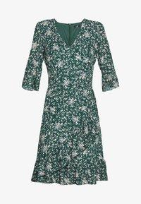 Wallis - DITZY FLORAL RUFFLE FLUTE DRESS - Day dress - green - 3