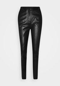 Victoria Victoria Beckham - DRAINPIPE TROUSER - Pantalon en cuir - black - 6