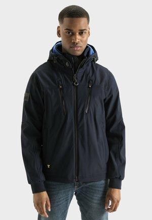 MIT STEHKRAGEN UND KAPUZE - Summer jacket - navy